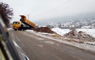 Illegális útépítés Pilisborosjenőn