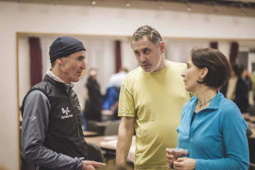 Niki, Gyuri és egyik helybéli versenyző, Sperka Tamás (9 kör), aki a szervezésben is segített